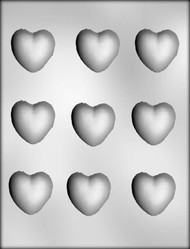 "1-5/8"" HEARTS CHOCOLATE CANDY MOLD"