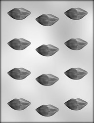 "1-5/8"" LIPS CHOCOLATE CANDY MOLD"