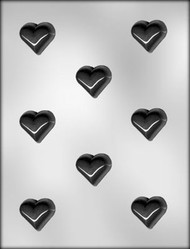 "1-3/8"" HEART CHOCOLATE CANDY MOLD"