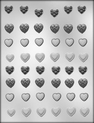 "5/8"" MINI HEART ASST CHOCOLATE CANDY MOLD"