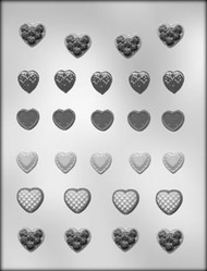 "1-3/4"" HEART ASST CHOCOLATE CANDY MOLD"