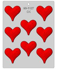 "2-1/4"" HEART W/LOVE CHOCOLATE CANDY MOLD"