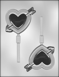 "4-1/2"" HEART SUCKER CHOCOLATE CANDY MOLD"