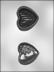 "3"" HEART BOX W/ROSES CHOCOLATE CANDY MOLD"
