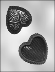 "4"" HEART BOX CHOCOLATE CANDY MOLD"