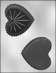 "4-1/4"" HEART BOX CHOCOLATE CANDY MOLD"