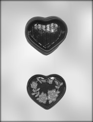 "3-1/4"" HEART BOX CHOCOLATE CANDY MOLD"