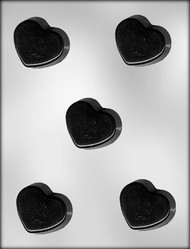 "2-1/4"" HEART PETIT FOUR CHOCOLATE CANDY MOLD"