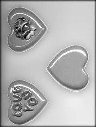 "3-1/4"" HEART CHOCOLATE CANDY MOLD"