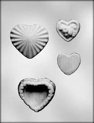 "3-3/8"" HEART BOX CHOCOLATE CANDY MOLD."