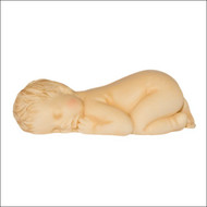 "Large Fondant Baby Mold--Silicone--Sleeping Baby Mold--Curled Up Baby--4"" x 2-1/2"" x 1-1/4"""