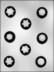 "1-5/8"" SNOWFLAKE MINT CHOCOLATE CANDY MOLD"