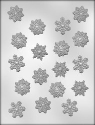 "1-1/4""SNOWFLAKE CHOCOLATE CANDY MOLD"