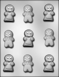 "2"" GINGERBREAD PEOPLE CHOCOLATE CANDY MOLD"