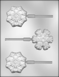 "2-3/4""SNOWFLAKE SKR CHOCOLATE CANDY MOLD"