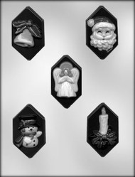 CHRISTMAS BARS CHOCOLATE CANDY MOLD