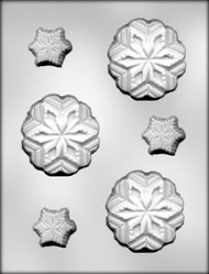"1-5/8"" & 3"" SNOWFLAKE CHOCOLATE CANDY MOLD"