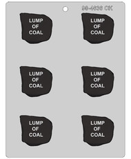 "2-1/2"" LUMP OF COAL CHOCOLATE CANDY MOLD"