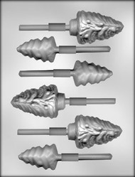 "2"" & 3"" TREE ASSORTMT SUCKER CHOCOLATE CANDY MOLD"