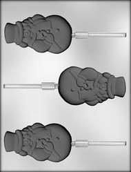 "3-1/2""SNOWMAN SUCKER CHOCOLATE CANDY MOLD"