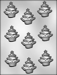"2"" CHRISTMAS TREE CHOCOLATE CANDY MOLD."