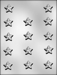 "1-1/8"" STAR CHOCOLATE CANDY MOLD."