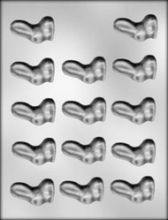 "1-7/8"" TALL EAR BUNNY CHOCOLATE CANDY MOLD"