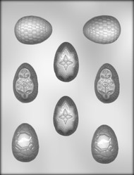 "2"" EGG ASSTMT CHOCOLATE CANDY MOLD"