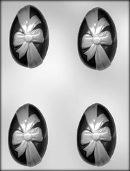 "3-1/4"" EGG W/RIBBON CHOCOLATE CANDY MOLD"