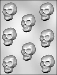 "2-1/8"" SKULL CHOCOLATE CANDY MOLD"