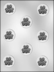 "1-1/2"" SHAMROCK MINT CHOCOLATE CANDY MOLD"