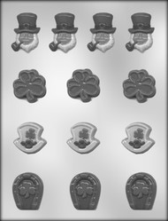 "1-1/4"" - 1-5/8"" ST PAT'S DAY ASSTMT CHOCOLATE CANDY MOLD"