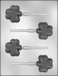 "2"" SHAMROCK SUCKER CHOCOLATE CANDY MOLD"