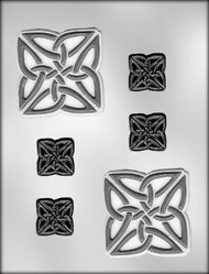 "3"" SQ. CELTIC KNOT CHOCOLATE CANDY MOLD"