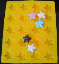 "1-1/8"" STARS YELLOW FLEXIBLE MOLD"