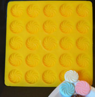 "1-1/4"" SWIRL FLAT YELLOW FLEXIBLE MOLD"