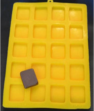"1-3/8"" SQUARES YELLOW FLEXIBLE MOLD"
