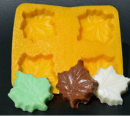 "4 CAV. 1-5/8"" MAPLE LEAF YELLOW FLEXIBLE MOLD"