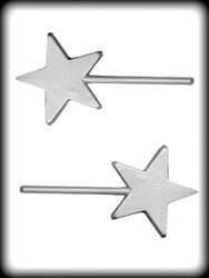 "3-1/2"" TEXTURED STAR HARD CANDY MOLD"