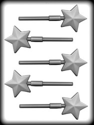"2"" FACETED STAR SUCKER HARD CANDY MOLD"