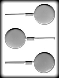"2 1/2"" ROUND SUCKER HARD CANDY MOLD"