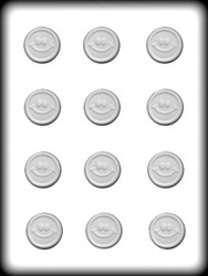 "1 1/4"" SMILEY MINT HARD CANDY MOLD"