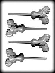 "2-5/8"" MOOSE HEAD SUCKER HARD CANDY MOLD"