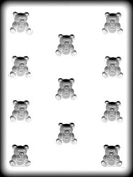 "1-1/8"" BEAR HARD CANDY MOLD"