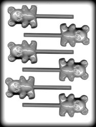 "2 1/4"" BEAR SUCKER HARD CANDY MOLD"