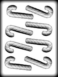 "3-3/4"" 3-D CANDY CANE HARD CANDY MOLD"