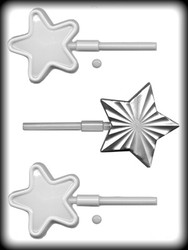"3""& 4"" STAR SUCKERS HARD CANDY MOLD"
