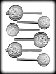 "1-3-4"" - 2-1/2"" JACK O LANTERN SUCKER HARD CANDY MOLD"