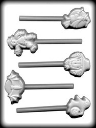 "1-3/4"" - 2-3/4"" HALLOWEEN ASSTMT SUCKER HARD CANDY MOLD"