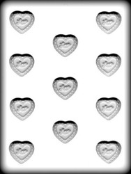 "1-3/8"" FILIGREE HEART HARD CANDY MOLD"